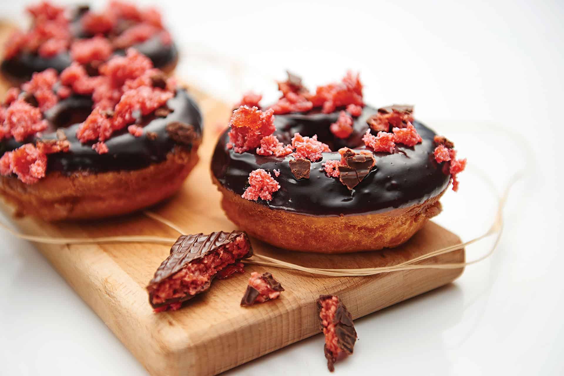 Cherry Ripe Donuts