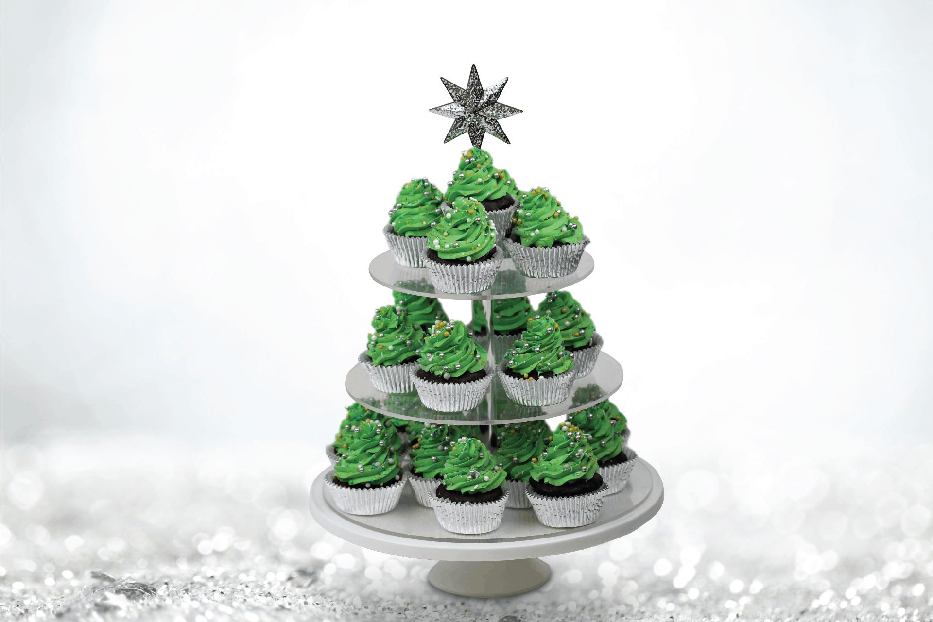 Christmas Tree Petite Cakes