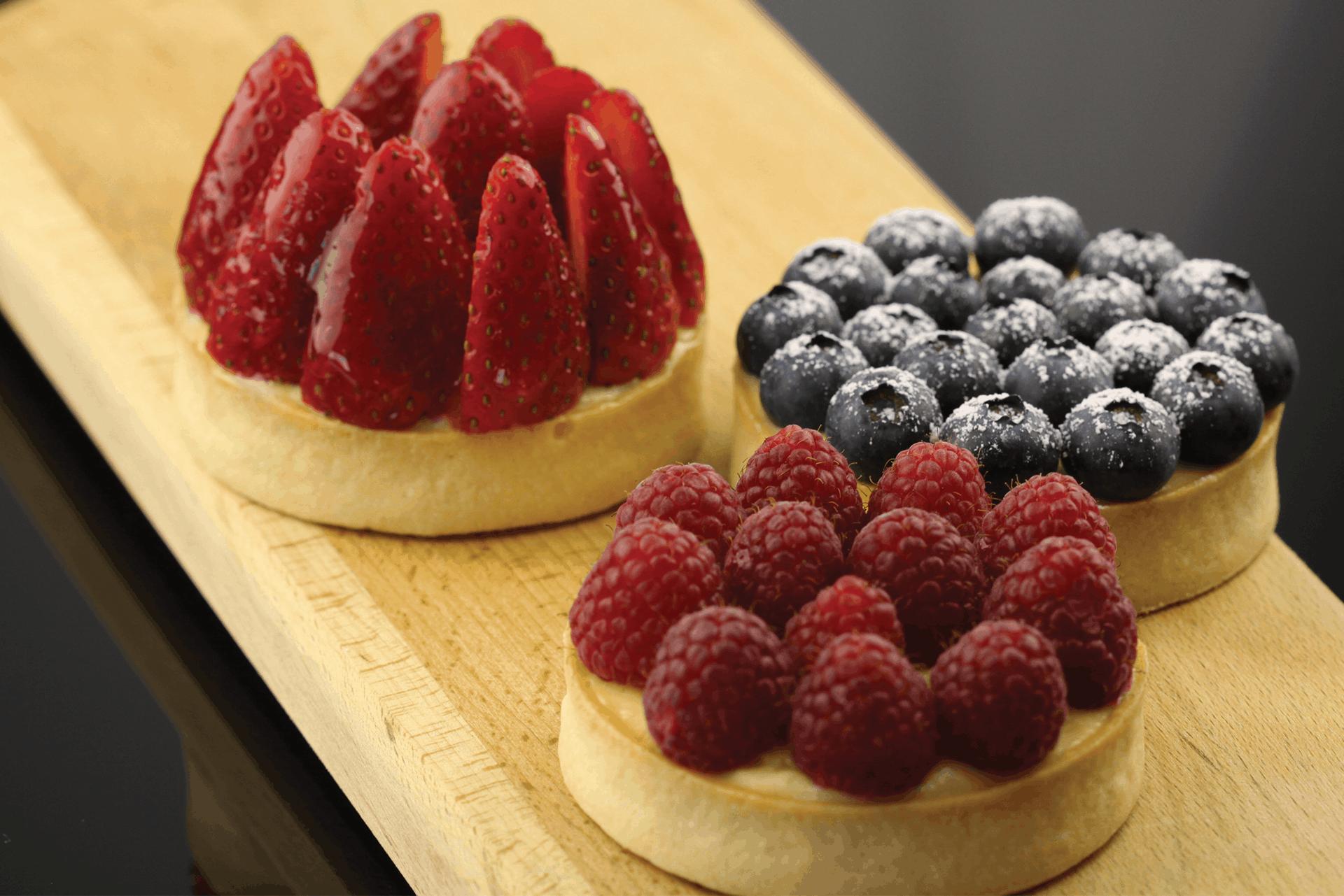 Berries Custard Tart Recipe