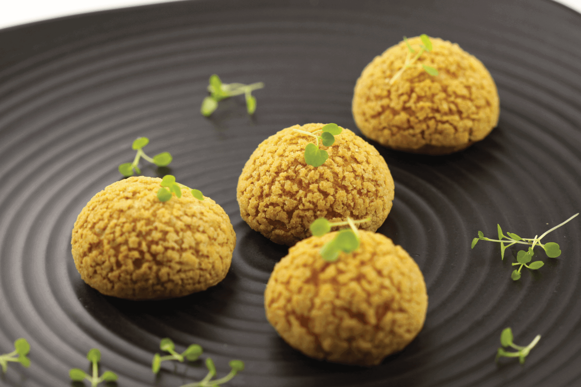 Sable Crusted Profiteroles